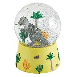 3. Floss & Rock Dinosaur Musical Snow Globe