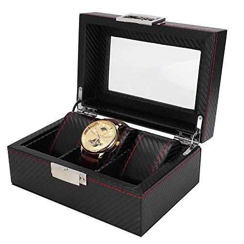 Liujaos Organizador de Relojes, Caja de Almacenamiento de Relojes Exquisita para Tienda Reloj para Hombres para Mujeres para Almacenamiento de Joyas