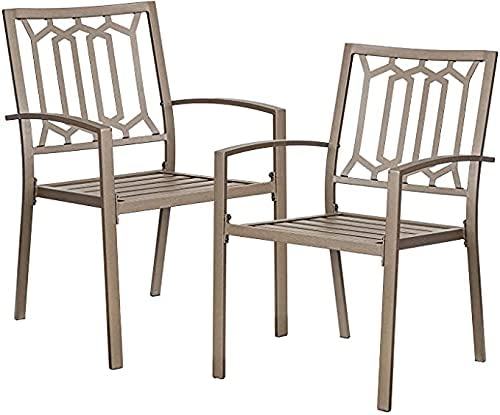 Welnow Outdoor Metal Chairs Set of Nippon regular agency 2 Special price for a limited time Patio Furnitu Chair Dining