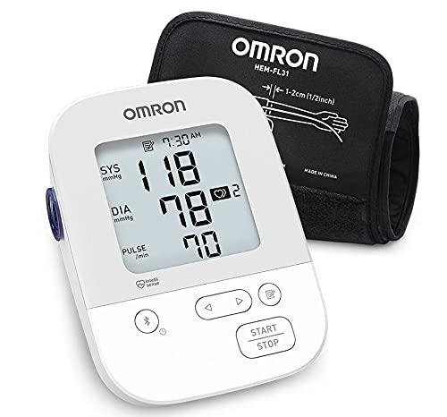 OMRON Silver Blood Pressure Monitor, Upper Arm Cuff, Digital Bluetooth Blood...