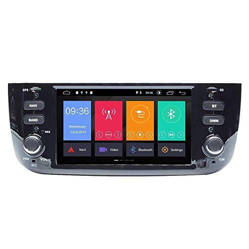 BWHTY Android 10 Auto Radio para Fiat Linea Punto 201 - -2015 Stereo Auto GPS Navigation Media Player Unidad Principal de Doble DIN con IPS DSP Car Play