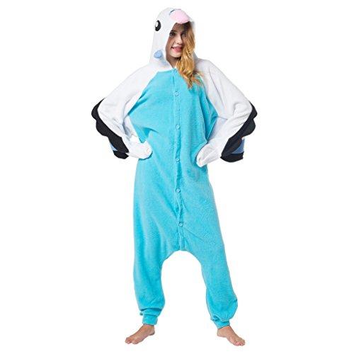 Katara 1744 - Wellensittich Kostüm-Anzug Onesie/Jumpsuit Einteiler Body für Erwachsene Damen Herren als Pyjama oder Schlafanzug Unisex - viele Verschiedene Tiere