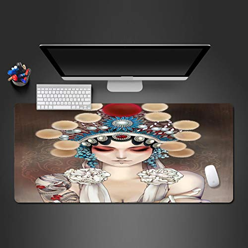 KOEWSN Alfombrilla Teclado Ordenador Sobremesa XL Alfombrilla Raton Gaming Grande 700X300mm Disfraz De Nia De Drama Patrn Mouse Pad para Gamers Pc Y Laptop, Special-Textured Superficie