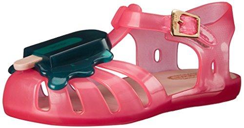 Mini Melissa Aranha VIII BB Slingback Sandal (Toddler), Pink/Green, 6 M US Toddler