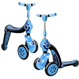 Allkindathings BI288Blue 2 in 1 Scooter and Balance Bike, Blue