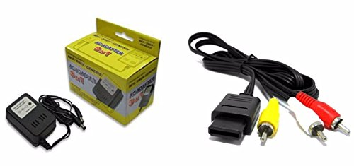 Video Game Accessories NEW POWER CORD AC ADAPTER FOR SUPER NINTENDO +SUPER NINTENDO AV CABLE BUNDLE