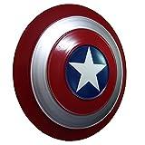 Escudo Capitan America Metal Adulto 1: 1 Custome Cosplay Hierro Forjado CapitáN AméRica Shield Colección Glory del 75 aniversario A,18.5inch