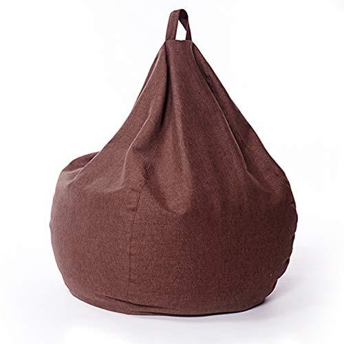 AMGJ Sitzsack Bezug Hülle ohne Füllung, Premium Sitzsackhülle Abdeckung für Erwachsene, Kinder, Jugendliche,Braun,70x80cm