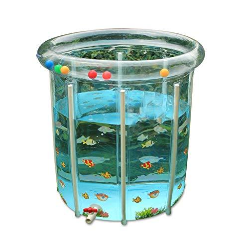 Natación soporte plegable del hogar inflable Bañera, 80 * 80cm ducha cubo del bebé exquisito Patrón de Protección Ambiental de Materiales Con piscina Family Water Park (Tamaño: 80 * 80 cm) kairui DDLS