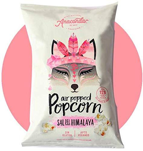 Anaconda Foods - Palomitas De Maíz Explotadas Con Aire Caliente Sabor Sal del Himalaya- Ingredientes y aromas naturales. Caja 6 bolsas X 30 Gr. Cantidad: 180 Gr. Antioxidantes y Bajas calorías