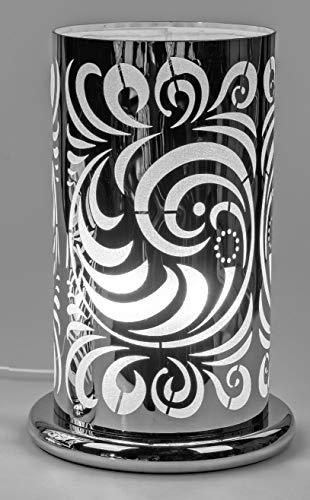 formano Tischlampe, Leuchte Kreise H. 38cm D. 25cm mit Touch Silber Metall