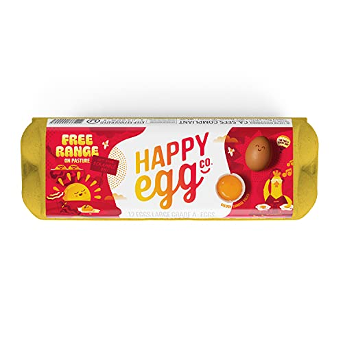 Happy Egg Large Brown Grade A Eggs, Free Range Eggs-12ct