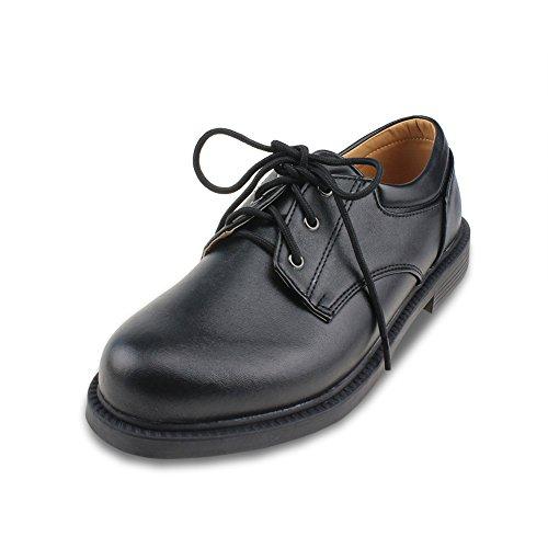 ボイーズシューズ フォーマルシューズ 男の子 履きやすい 革靴 ブラック 24.7CM [8208]