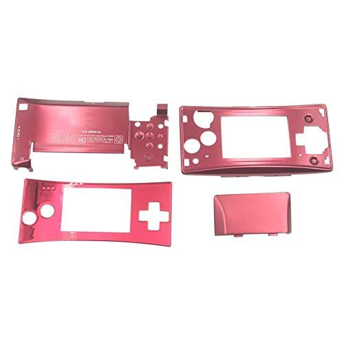 Ansemen Boîtier Shell Kit pour Nintendo Gameboy Micro GBM - 4PCS Avant Faceplate Étui de Logement Bas Couverture Set (Rouge)