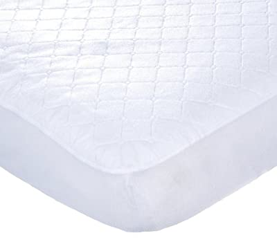 Carters Waterproof Fitted Quilted Crib and Toddler Protective Mattress Pad Cover