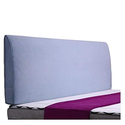 TD Kissen Bett Kopfteil gepolstert Rückenkissen Wand gepolstert Müdigkeit Linderung Lesehilfe komfortabel, blau, 180 cm