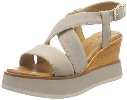 Tamaris Damen Sandalette 1-1-28017-36 341 beige normal Größe: 36 EU
