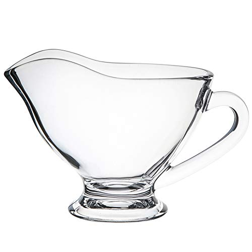 SOLAVIA helder glas footed glas grijze saus boot Snack & dip kom 8cm 200ml