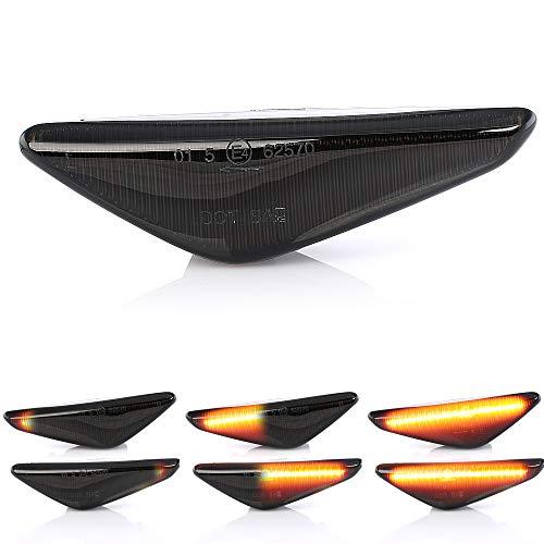 2 X LED Blinker Seitenblinker Blinkleuchte Dynamisch Laufblinker Kotflügel-Blinker mit E-Prüfzeichen V-170154LG