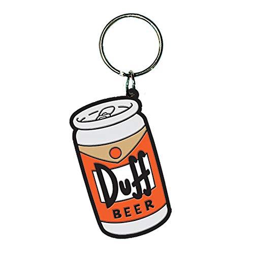 Pritties Accessories Genuine Die Simpsons Duff Beer Rubber Schlüsselanhänger Homer Moes Tavern