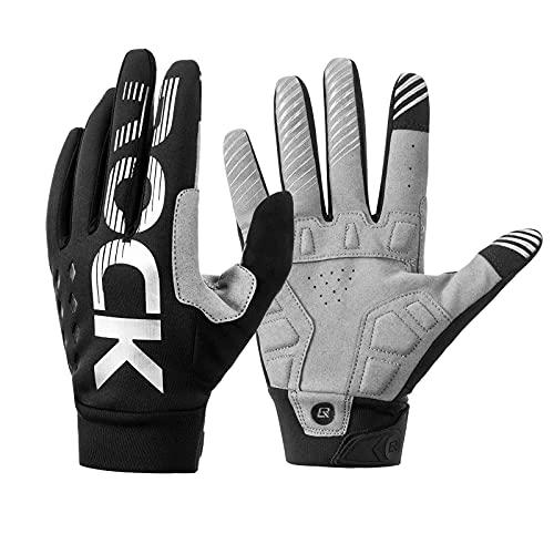 ROCKBROS Fahrradhandschuhe Handschuhe für Frühling Herbst Winddicht Stoßfest Touchscreen Vollfinger Handschuhe für Outdoor-Sports Laufen, Fahrrad Damen Herren