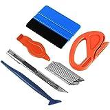 Ewrap Kit de herramientas de vinilo para ventanas de coche, incluye prensa de fieltro, cortador de bordes y raspador de esquinas