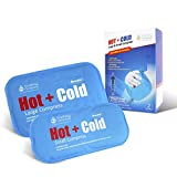 Hot and Cold Reusable Compress by Soothing Company - Pain Relief for Headaches, Back, Neck, Shoulder, Migraines - Gel Compress for Heating and Cooling Therapy - 1 Large and 1 Small