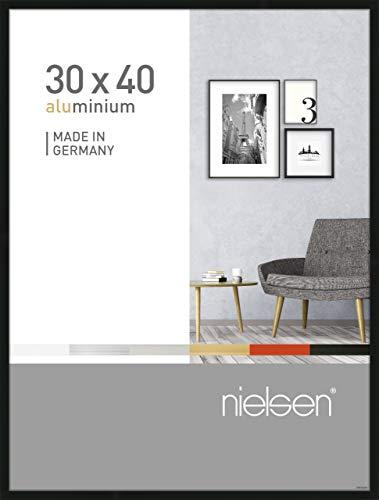 Nielsen Aluminium Bilderrahmen Pixel, 30x40 cm, Schwarz