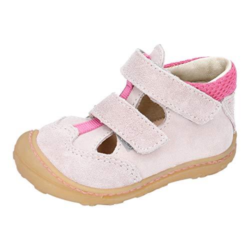 RICOSTA Mädchen Kletthalbschuhe EBI von Pepino, Weite: Mittel (WMS), Halbschuh Klettverschluss strassenschuh Sneaker junior,Viola,23 EU / 6 Child UK