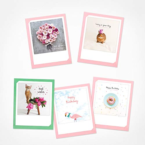 PICKMOTION Best wishes   Set of 5 Folded Cards   Greeting Cards - Including envelope, Pictures of Instagram Photographers, designed in Berlin, Greeting Cards