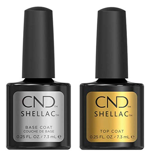 Cnd Shellac Top/Base Esmalte Gel - 1 Paquete de 2 x 7.3 ml - Total: 14.6 ml