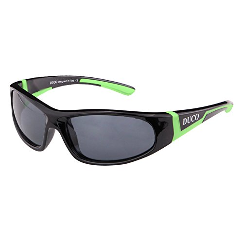 DUCO DUCO Kinder Sonnenbrille Polarisierte Sportbrille für Jungen und Mädchen Für Alter 3-10