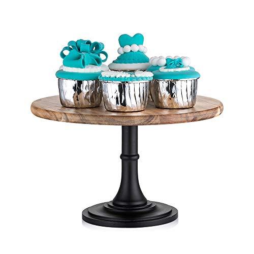 25.5cm Rustikale Basis aus Rundholz Hochzeitstorte Stehen, Hochzeit Geburtstag Party Dessert Cupcake Sockel Display Platte