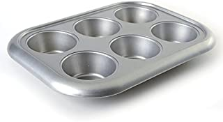 Norpro Nonstick More-Than-A-Muffin Pan, Jumbo, 6 Count, Grey