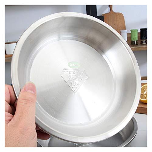 Bandejas Horno Plato de acero inoxidable de acero inoxidable de grado alimenticio salsa redondo salsa ketch recipiente de arroz cocina placas de picnic platos platos Bandeja Horno Universal