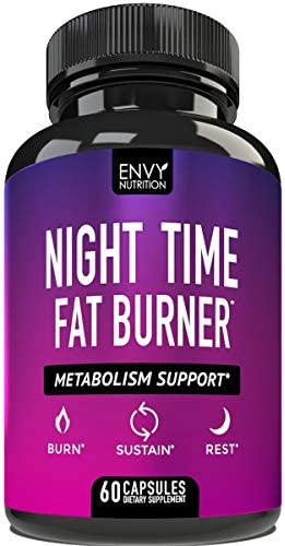 Night Time Fat Burner Metabolism Support Appetite Suppressant and Weight Loss Diet Pills for product image