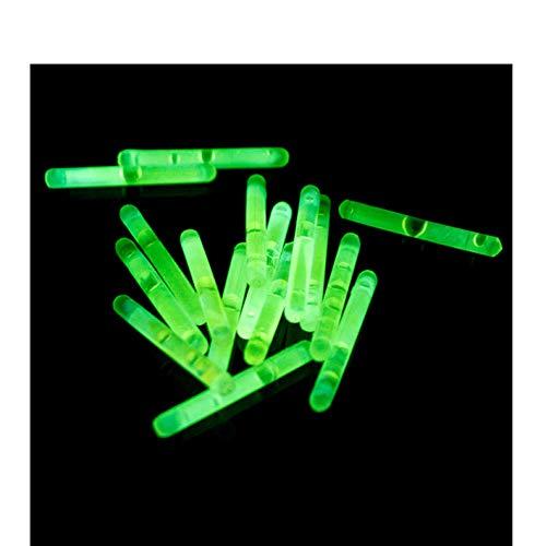 Power Lightz 20 Stück Micro Mini Knicklichter/Bissanzeiger - Vorteilspack - in Grün Leuchtend inklusive 10 Verbinder - 39 mm x 4,5 mm - für Luftballons, als Schmuck oder Dekoration