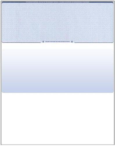 100 Blank Check Stock - Check on Top - Blue Diamond -