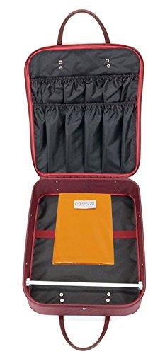 ウコン風呂敷付き 着物バッグ (エンジ)wk-211 着物かばん 外ポケットありで便利 和装ケース 防水加工 日本製 (エンジ)