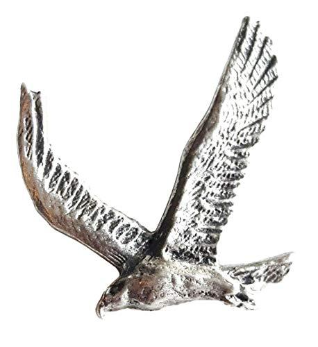 Goldener Adler, handgefertigt aus englischem Zinn, Anstecknadel + Geschenktüte
