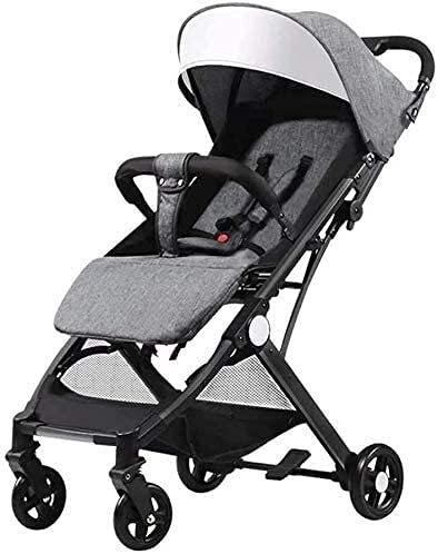 Cochecito de bebé para recién nacido, cochecito de viaje para recién nacido, cochecito de bebé 2 en 1 para recién nacido, silla de paseo plegable gris