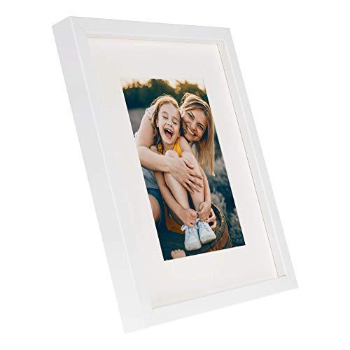 BD ART 20 x 25 cm Marco de Fotos con Paspartu 13 x 18 cm, Blanco