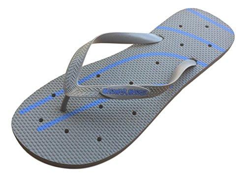 Shower Shoez Men's Antimicrobial Non-Slip Pool Dorm Water Sandals Flip Flops (Large...