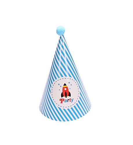 Blancho Fusée, Fournitures 5Pcs d'anniversaire d'enfants Hat Party Party Hat