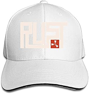 MARC Custom Rust Unisex-Adult Hip Hop Headwear White