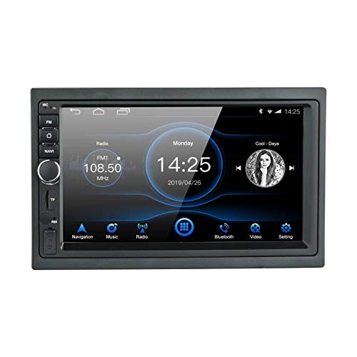 EZoneTronics Android 8.1 Entretenimiento Multimedia Car Radio 1024x600 GPS Navegación Estéreo Player 1G RAM + 16G ROM con Bluetooth USB AM / FM / RDS Mirror Link Steering Wheel Control