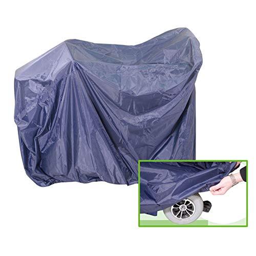 DERCLIVE Cubierta eléctrica de cuatro ruedas impermeable resistente al sol cubierta protectora para silla de ruedas cuatro ruedas
