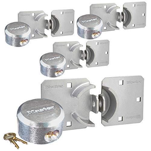 Master Lock - Hasp/Hidden Shackle (4) Keyed Alike Padlocks 770-6271NKA-4 w/BumpStop Technology
