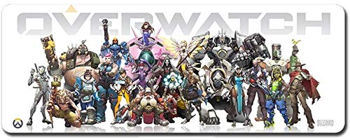 ZDVHM Extended Gaming Mouse Pad Overwatch Oversized Keyboard Mouse Mat Waterproof Non-Slip OW Game Mousepad for Office Home PC Desktop Table Mouse Pad (Color : E, Size : 800 * 300 * 3mm)
