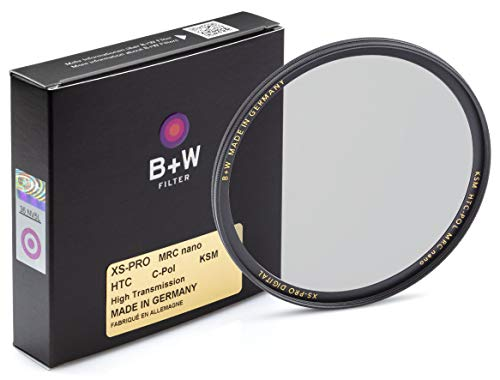 B+W Zirkularer Polarisationsfilter Käsemann (72mm, High Transmission, MRC Nano, XS-Pro, 16x vergütet, slim, Premium)